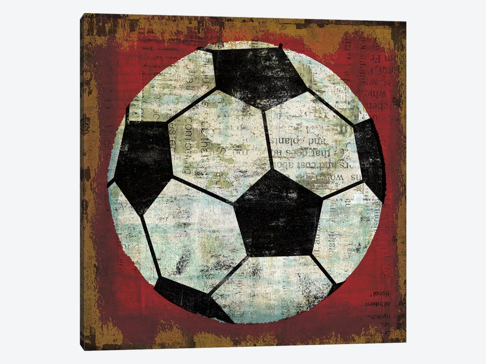 Ball IV on Red by Michael Mullan 1-piece Canvas Artwork