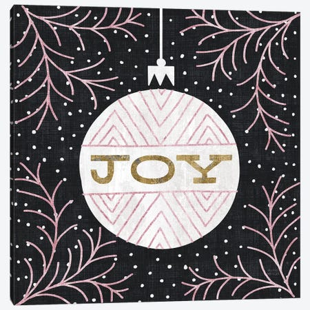 Jolly Holiday Ornaments Joy Metallic Canvas Print #MIM25} by Michael Mullan Canvas Artwork