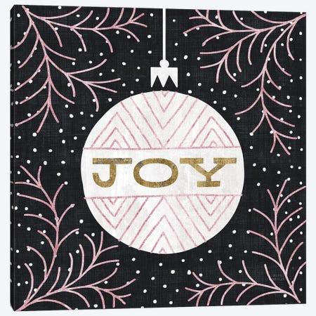Jolly Holiday Ornaments Joy Metallic Canvas Print #MIM25} by Michael Mullan Canvas Artwork