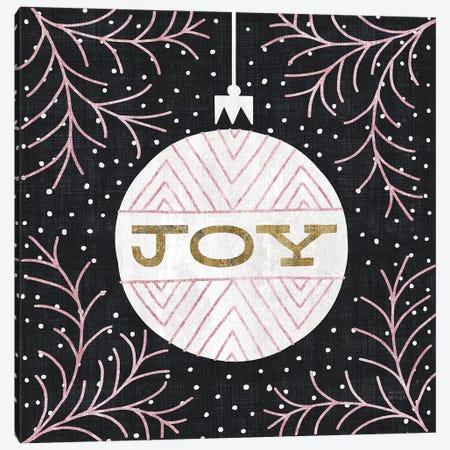 Jolly Holiday Ornaments Joy Metallic Canvas Print #MIM30} by Michael Mullan Canvas Wall Art
