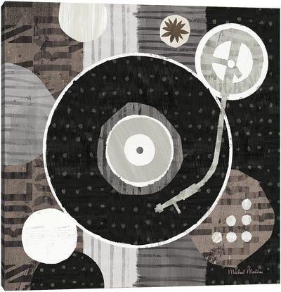 Rock N Roll Album Neutral Canvas Art Print