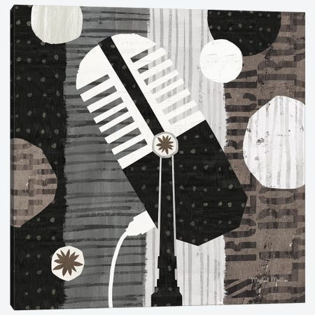 Rock N Roll Mic Neutral Canvas Print #MIM36} by Michael Mullan Canvas Print