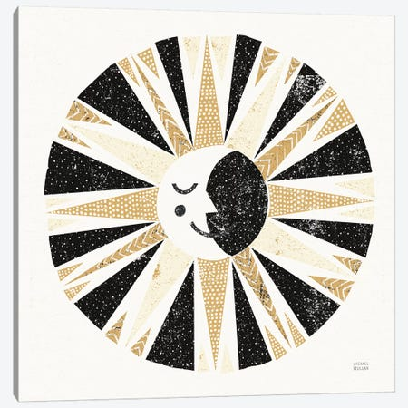Moonshine Black Gold Sq Canvas Print #MIM45} by Michael Mullan Canvas Wall Art