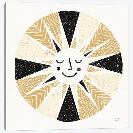 Sunshine Black Gold Sq Canvas Print #MIM46} by Michael Mullan Canvas Wall Art