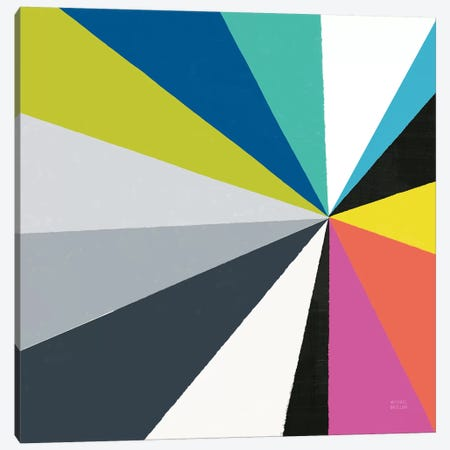 Triangulawesome Color III Canvas Print #MIM47} by Michael Mullan Canvas Artwork
