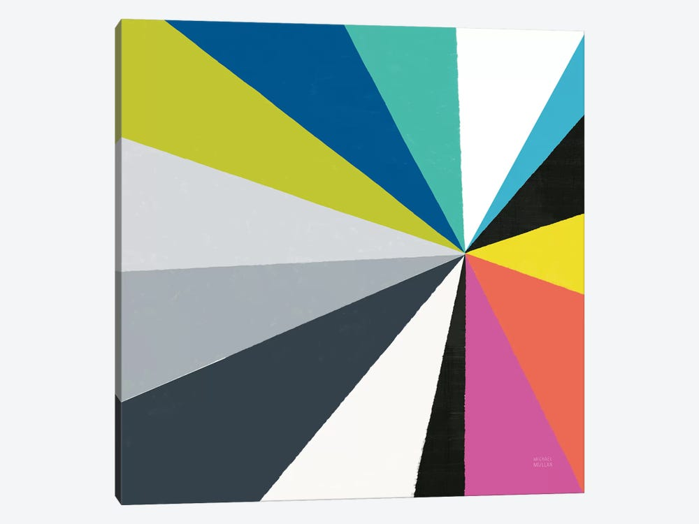 Triangulawesome Color III by Michael Mullan 1-piece Canvas Art