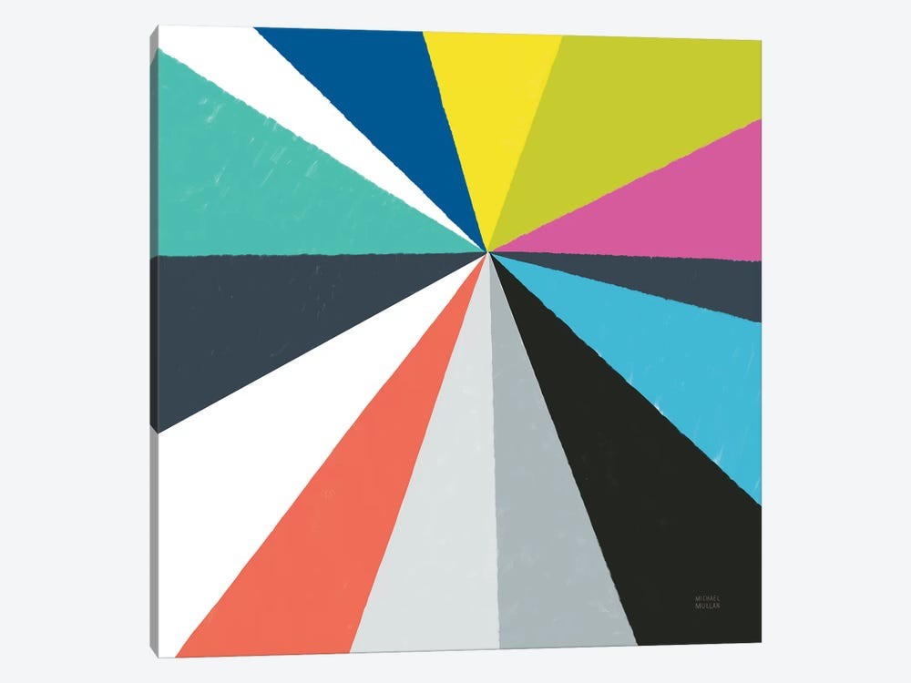 Triangulawesome Color IV by Michael Mullan 1-piece Canvas Print