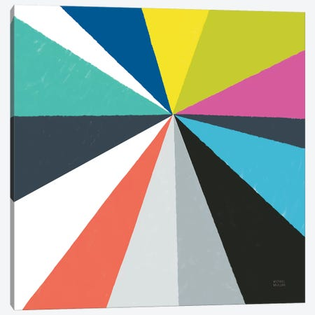 Triangulawesome Color IV Canvas Print #MIM48} by Michael Mullan Canvas Art Print