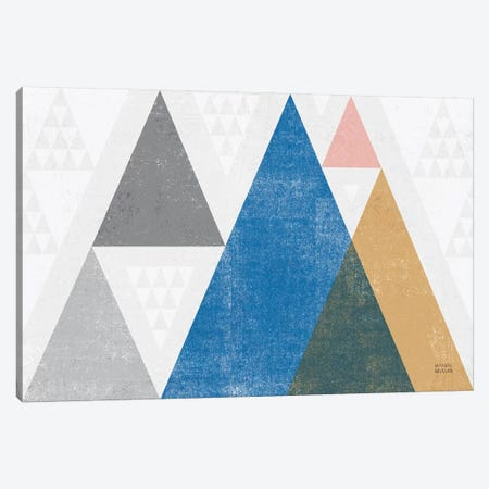Mod Triangles I Gray Canvas Print #MIM4} by Michael Mullan Art Print