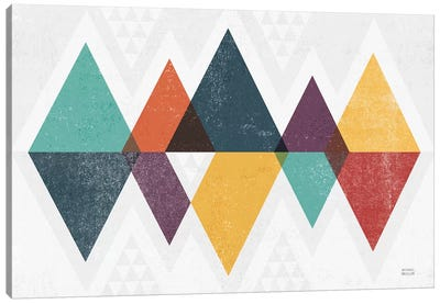 Mod Triangles II Retro Canvas Art Print