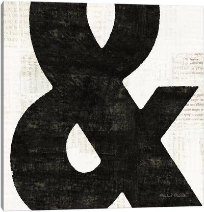 Punctuated Black Square III Canvas Art Print