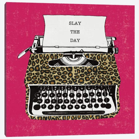 Slay the Day Canvas Print #MIM59} by Michael Mullan Canvas Art
