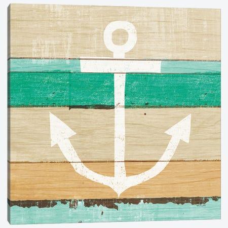 Beachscape III Anchor Green Canvas Print #MIM69} by Michael Mullan Canvas Print