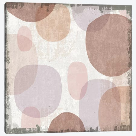 Blush Drips I Canvas Print #MIM6} by Michael Mullan Canvas Art Print
