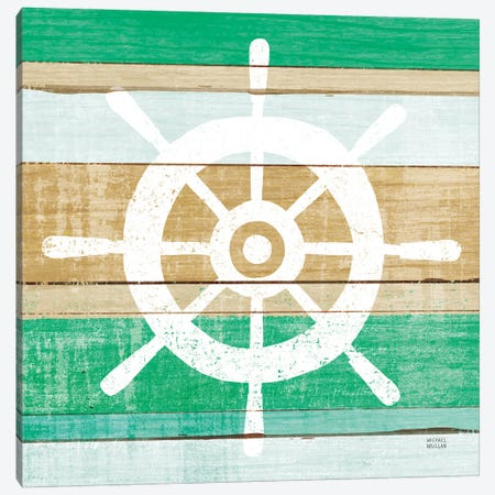Beachscape VI Helm Green Canvas Print #MIM72} by Michael Mullan Canvas Artwork