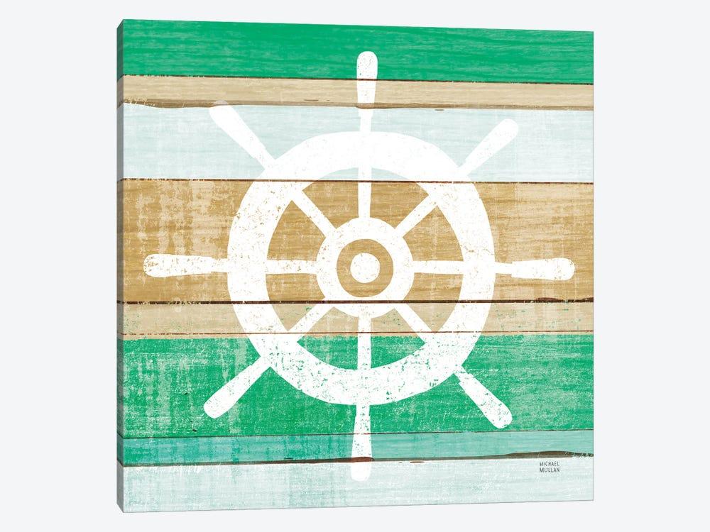 Beachscape VI Helm Green by Michael Mullan 1-piece Canvas Wall Art