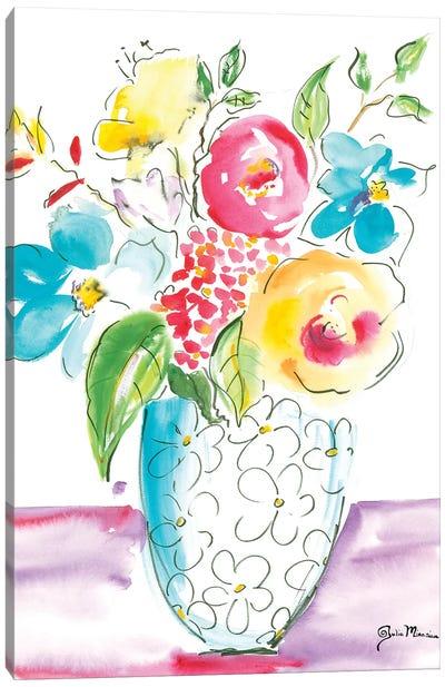 Flower Burst Vase I Canvas Art Print