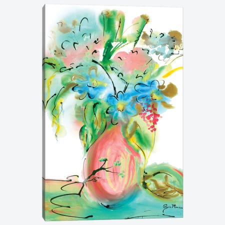 Flower Burst Vase II Canvas Print #MIN2} by Julia Minasian Canvas Print