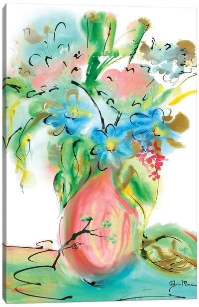 Flower Burst Vase II Canvas Art Print