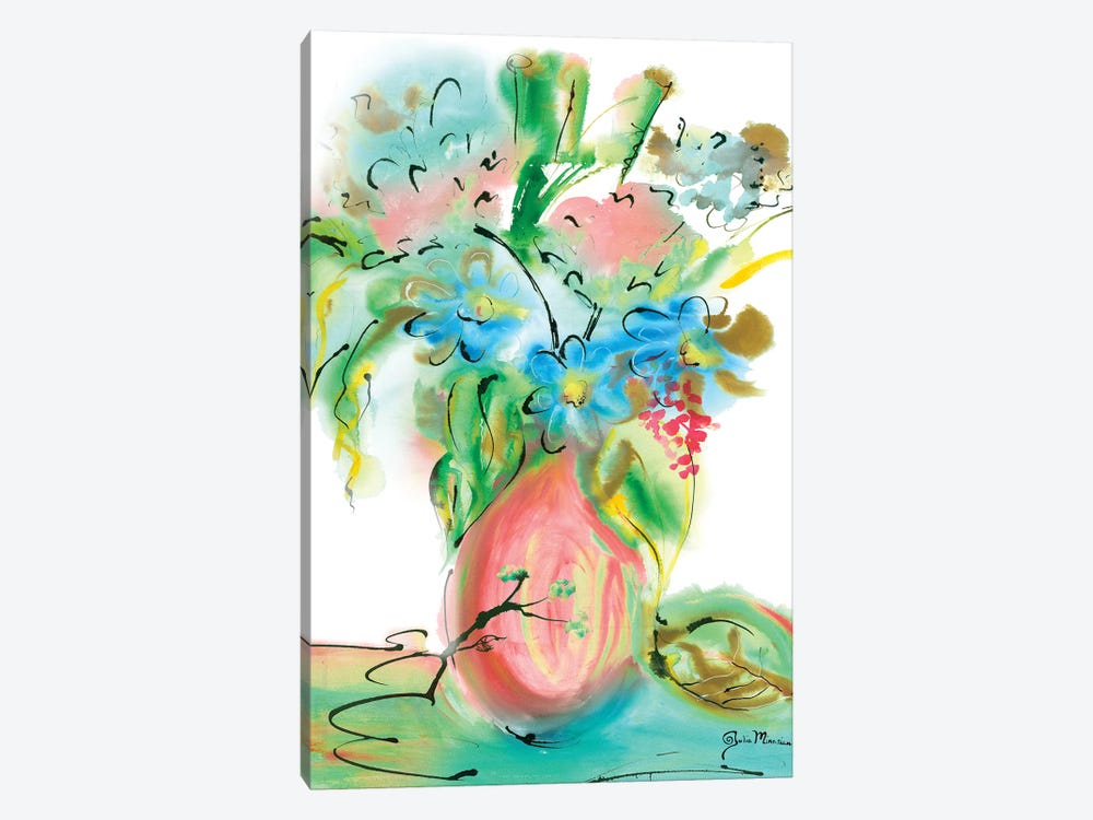 Flower Burst Vase II by Julia Minasian 1-piece Canvas Artwork