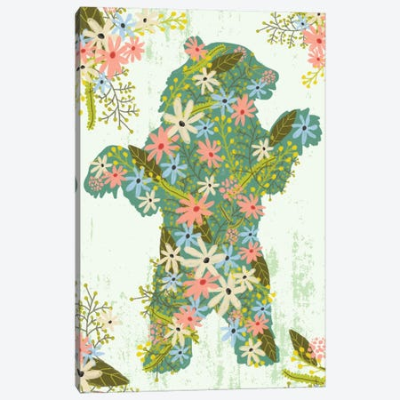 Bear Canvas Print #MIO100} by Mia Charro Canvas Art Print