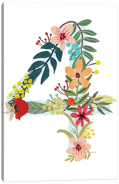 Floral Four Canvas Art Print