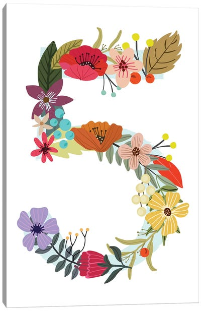 Floral Five Canvas Art Print