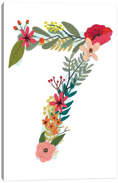 Floral Seven Canvas Art Print