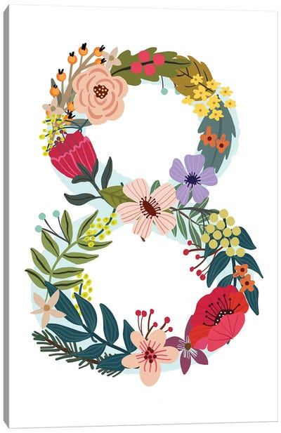 Floral Eight Canvas Art Print