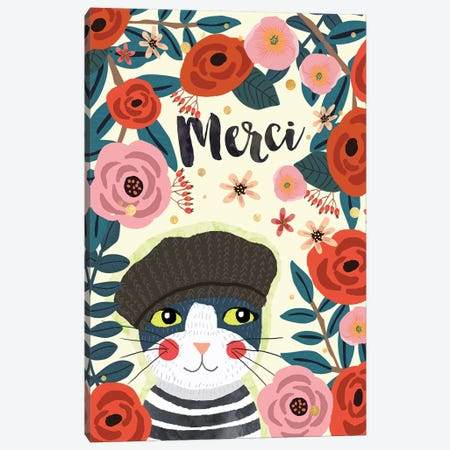 Merci Canvas Print #MIO114} by Mia Charro Canvas Print