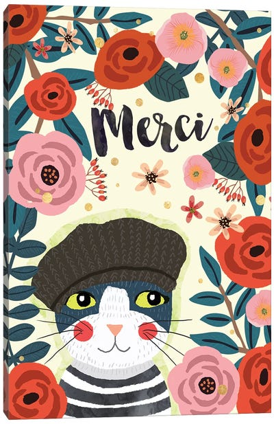 Merci Canvas Art Print