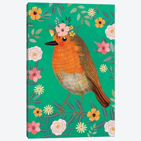 Robin Canvas Print #MIO117} by Mia Charro Canvas Art Print