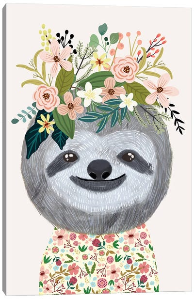 Sloth Canvas Art Print