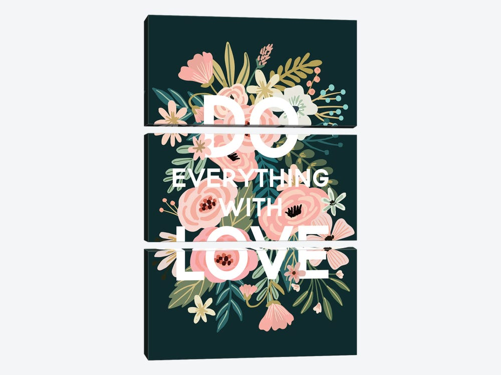 Do Everything With Love by Mia Charro 3-piece Canvas Wall Art