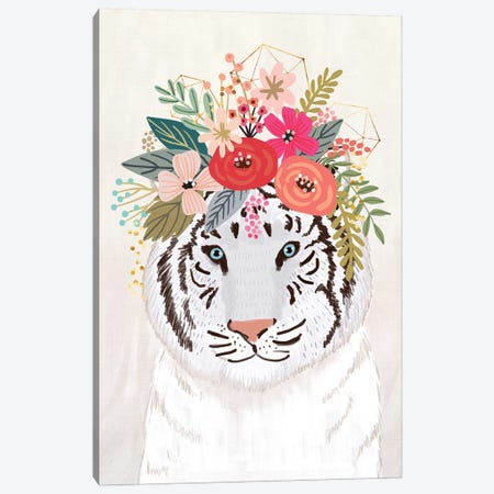 White Tiger Canvas Print #MIO121} by Mia Charro Art Print