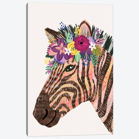 Zebra Canvas Print #MIO122} by Mia Charro Canvas Print