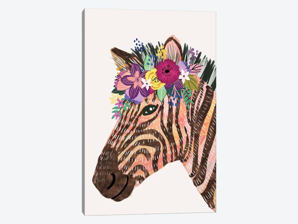 Zebra by Mia Charro 1-piece Canvas Art Print
