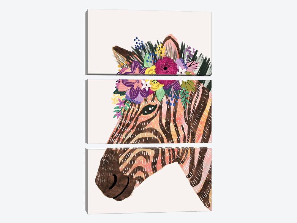 Zebra by Mia Charro 3-piece Art Print