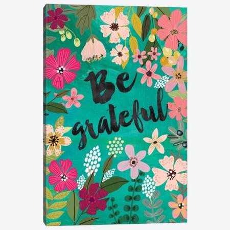 Be Grateful Canvas Print #MIO123} by Mia Charro Art Print