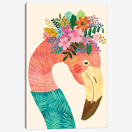 Flamingo Canvas Print #MIO127} by Mia Charro Canvas Wall Art