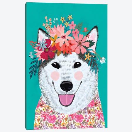 Husky Canvas Print #MIO134} by Mia Charro Canvas Art Print