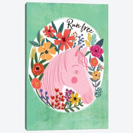 Pink Horse Canvas Print #MIO138} by Mia Charro Canvas Art