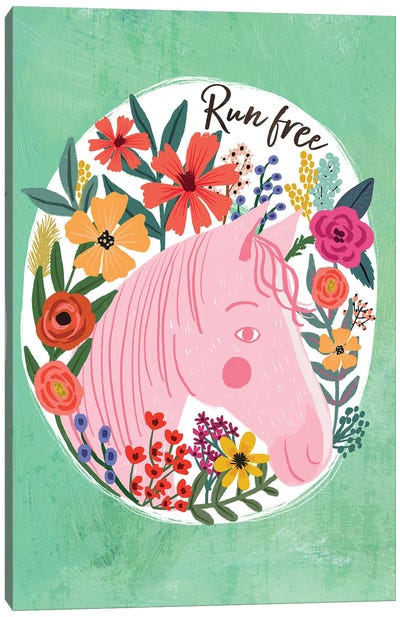 Pink Horse Canvas Art Print
