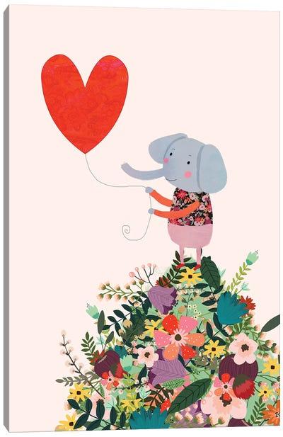 Elephant Heart Canvas Art Print