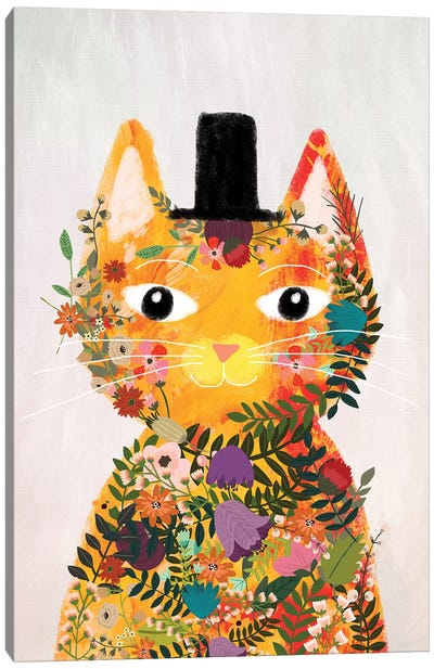 Flower Cat I Canvas Art Print