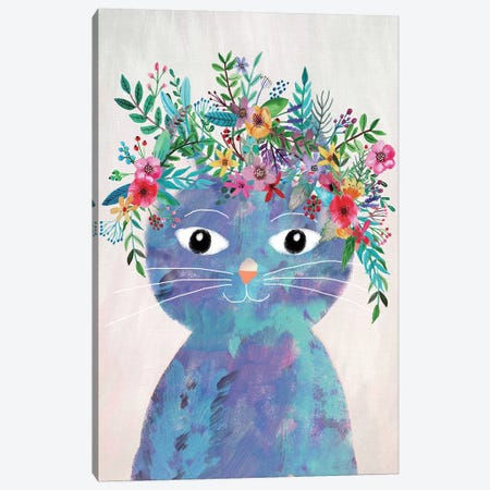 Flower Cat II Canvas Print #MIO16} by Mia Charro Canvas Print