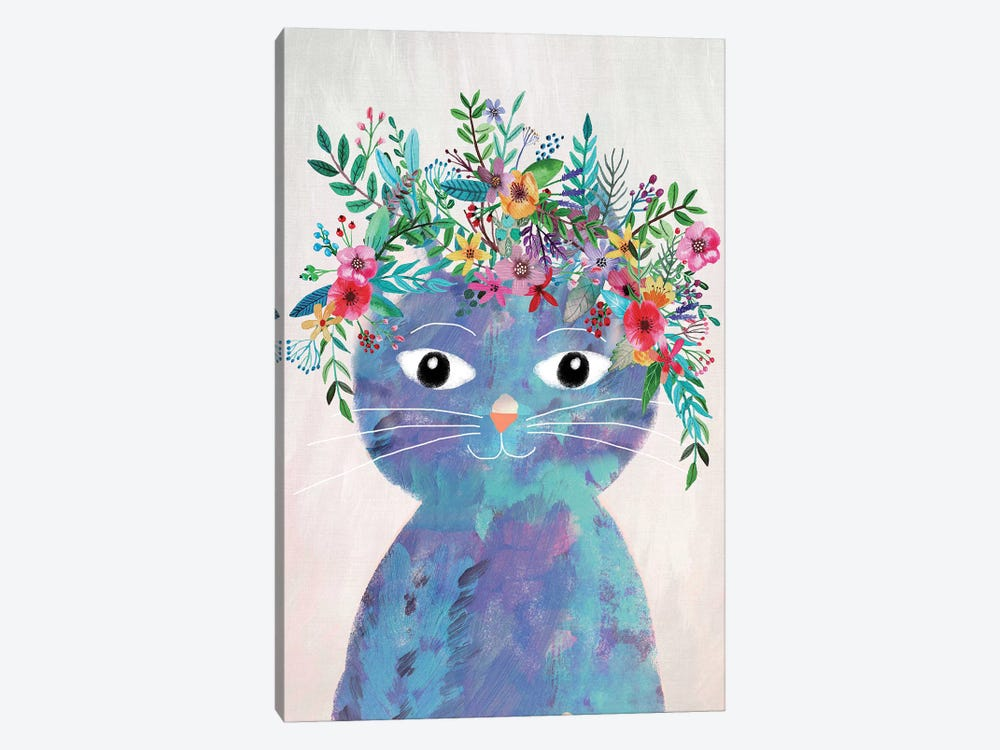 Flower Cat II by Mia Charro 1-piece Canvas Print