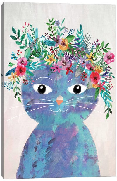 Flower Cat II Canvas Art Print