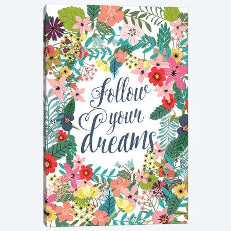 Follow Your Dreams Canvas Print #MIO18} by Mia Charro Canvas Wall Art