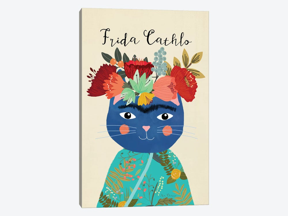 Frida Cathlo by Mia Charro 1-piece Canvas Art